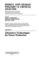 Alternative Technologies for Power Production