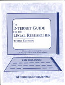 The Internet Guide for the Legal Researcher