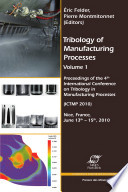 Tribology Of Manufacturing Processes Book PDF