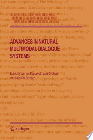Download Advances in Natural Multimodal Dialogue Systems PDF Book - PDFBooks