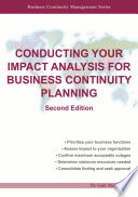 Conducting Your Impact Analysis for Business Continuity Planning