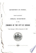 Annual Report of the Comptroller of the City of Chicago  Illinois Book
