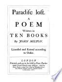 Paradise Lost  in Ten Books