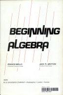 Beginning Algebra [Pdf/ePub] eBook