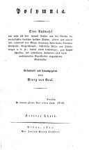 Polymnia. Eine Auswähl von Stellen aus den Werken der vorzüglisten deutschen Dichter