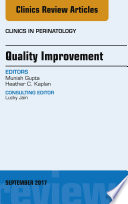 Quality Improvement  an Issue of Clinics in Perinatology  E Book