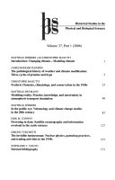 Historical Studies In The Physical And Biological Sciences