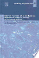 Siberian River Run Off In The Kara Sea Book PDF