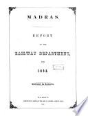 Report of the Railway Department for ...