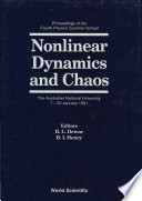 Nonlinear Dynamics And Chaos  Proceedings Of The Fourth Physics Summer School Book