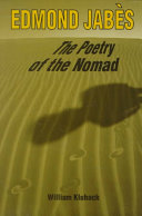 Edmond Jabès, the Poetry of the Nomad Pdf/ePub eBook