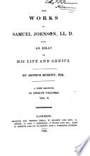 The Works of Samuel Johnson  The lives of the English poets