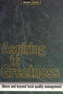 Pdf Aspiring to Greatness
