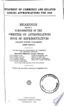 Department Of Commerce And Related Agencies Appropriations For 1958