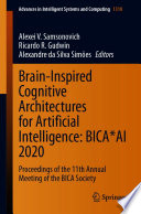 Brain Inspired Cognitive Architectures for Artificial Intelligence  BICA AI 2020