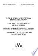 Euskal Herriaren Historiari Buruzko Biltzarra: Ekonomia, gizartea eta kultura Antzinako Erregimenean