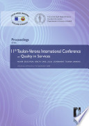 Proceedings of the 11th Toulon-Verona International Conference on Quality in Services