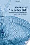 Elements Of Synchrotron Light Book PDF