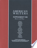 American Writers. Supplement