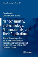Nanochemistry  Biotechnology  Nanomaterials  and Their Applications Book