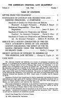 American Criminal Law Quarterly