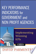 Image of ebook.  Title Key Performance Indicators for government and non profit agencies