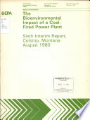 The Bioenvironmental Impact of a Coal fired Power Plant Book