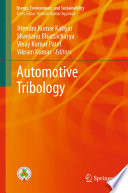 Automotive Tribology Book