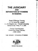 The Judiciary and Separation of Powers in Nigeria Book