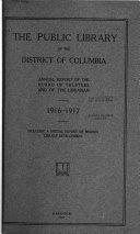 Annual Report Of The Board Of Trustees Of The Public Library Of The District Of Columbia