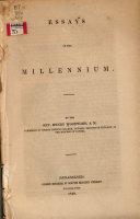 Essays on the Millennium