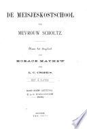 De Meisjeskostschool Van Mevrouw Scholtz