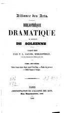 Bibliothèque dramatique de M. de Soleinne