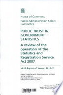 Public Trust In Government Statistics