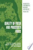 Quality of Fresh and Processed Foods Book