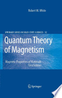 Quantum Theory Of Magnetism Book PDF