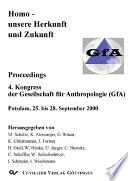 Homo - Unsere Herkunft und Zukunft: Proceedings