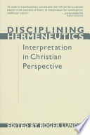 Disciplining Hermeneutics