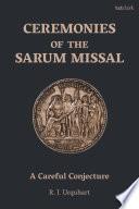 Ceremonies of the Sarum Missal