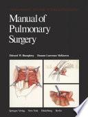 Manual of Pulmonary Surgery
