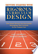 Getting Started with Rigorous Curriculum Design Book