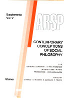 Contemporary Conceptions of Social Philosophy