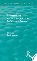 Problems of Adolescence in the Secondary School Book