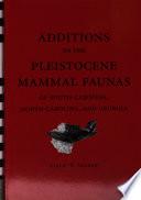 Additions To The Pleistocene Mammal Faunas Of South Carolina North Carolina And Georgia