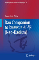 Dao Companion to Xuanxue         Neo Daoism