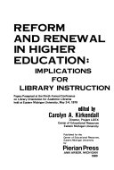 Reform and Renewal in Higher Education Book