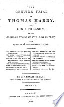The Genuine Trial of Thomas Hardy, for High Treason