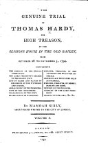 The Genuine Trial of Thomas Hardy, for High Treason ebook
