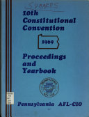 Constitutional Convention Proceedings And Year Book