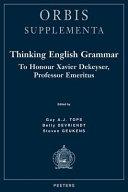 Thinking English grammar